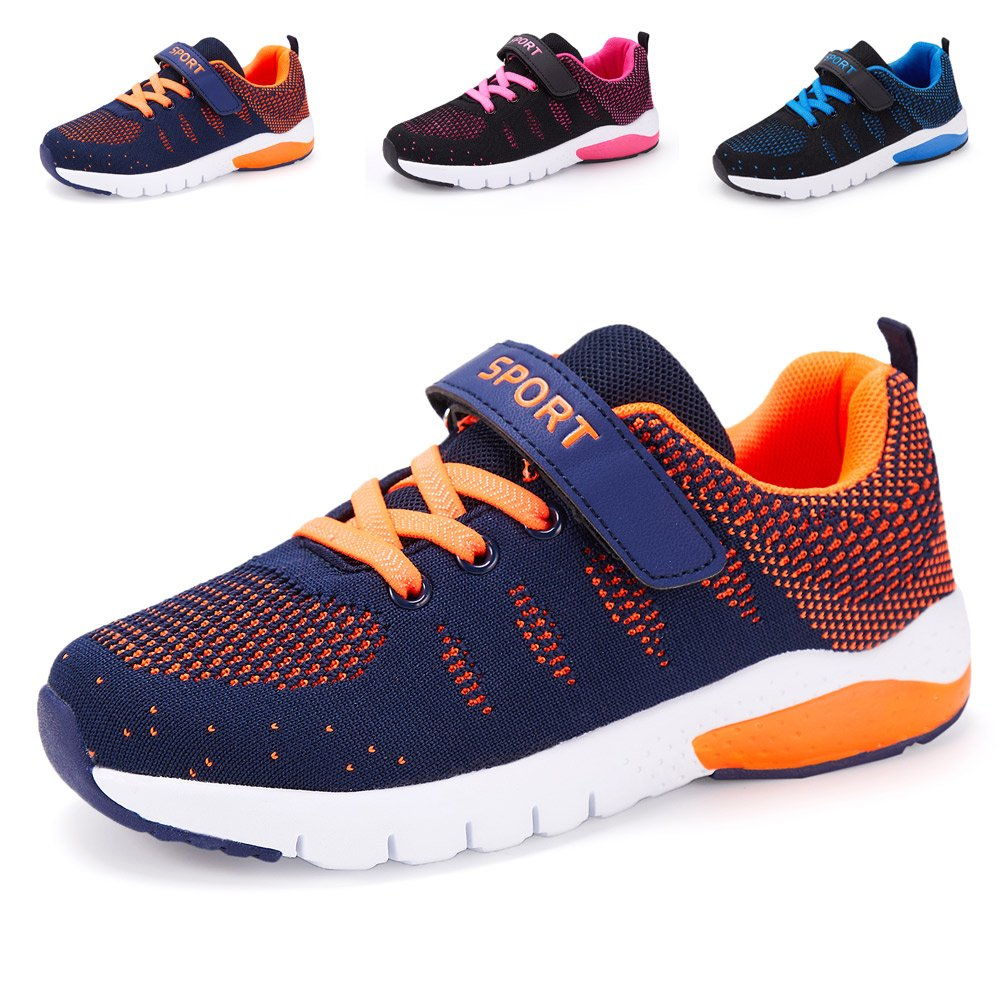 Kids Running Tennis Shoes Lightweight Casual Walking Sneakers for Boys and Girls (Little Kid/Big Kid),1#orange,US 1 M Little Kid