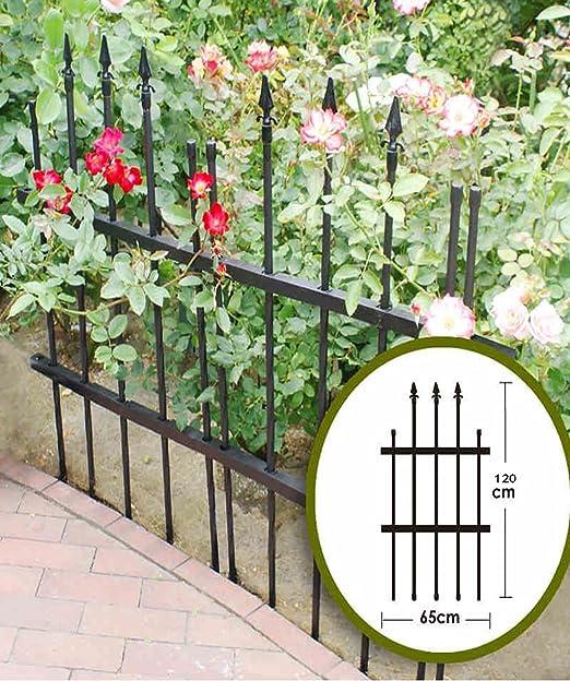ZHANWEI Flores Escaleras Valla de plástico Valla de jardín Piquete Paneles de Valla Bordes de césped Borde Valla Estirable (Color : B, Tamaño : 2 Pieces): Amazon.es: Jardín