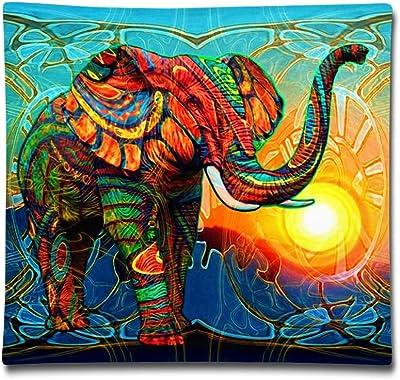 Webb 1818 Inches Pillowcase Art Surrealistic Elephant Linen Durable Cushion Square