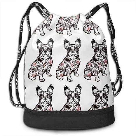 8a02290d92 Amazon.com  Trableade American Bully Pug Multifunctional Bundle Drawstring  Backpack Portable Shoulder Bags Travel Sport Gym Bag Yoga Runner Daypack  Shoe ...