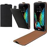 eFabrik Flip Case für LG K10 Hülle Tasche Slim Cover Schutztasche Handy- Zubehör schwarz