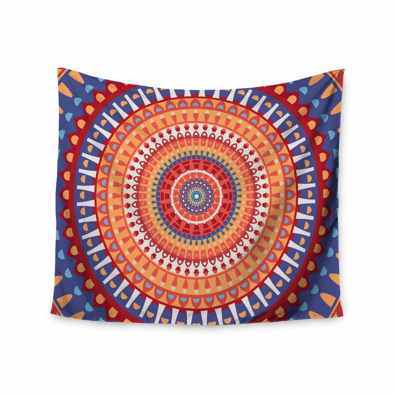 Kess InHouse Images afe Mandala4 Multicolor Ethnic Abstract Illustration Digital Wall Tapestry