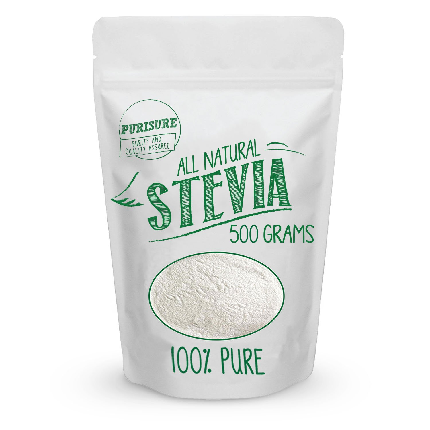 All Natural Stevia Powder 500g (3384 Servings) | Highly Concentrated Pure Extract | No Fillers, Additives or Artificial Ingredients | Zero-Calorie Sweetener | Best Sugar Substitute