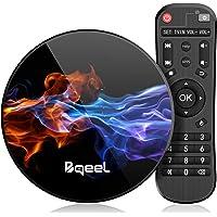 Última 9.0 TV Box 【4GB RAM+128GB ROM】 Bqeel Android TV Box RK3318 Quad-Core 64bit Cortex-A53 Soporte 2k*4K, WiFi 2.4G/5G,BT 4.0 , USB 3.0 Smart TV Box