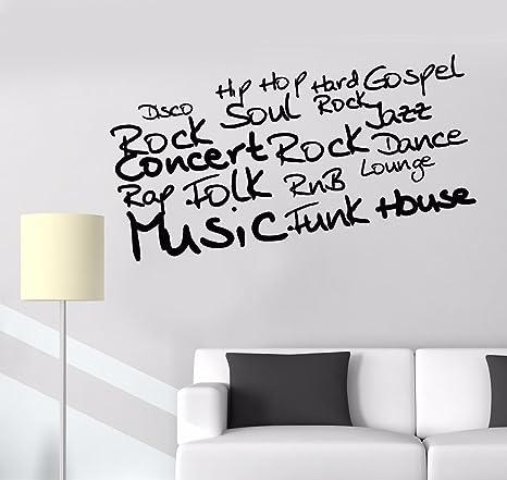 Amazoncom Vinyl Wall Decal Musical Word Art Music Room Decoration