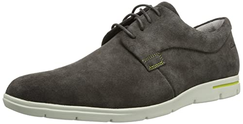 Clarks Denner Motion, Men's Derby Lace-Up, Grey (grey Suede),