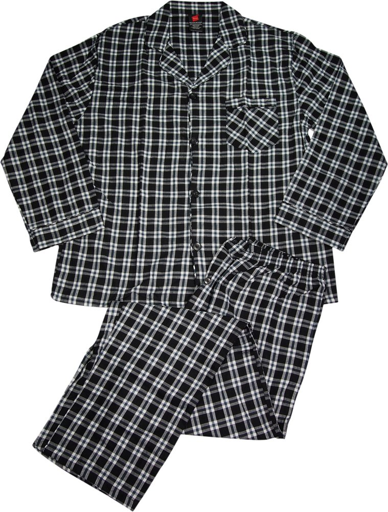 Hanes Men`s Woven Pajamas Red Label LSLLBCWM/LSLLBCWMB