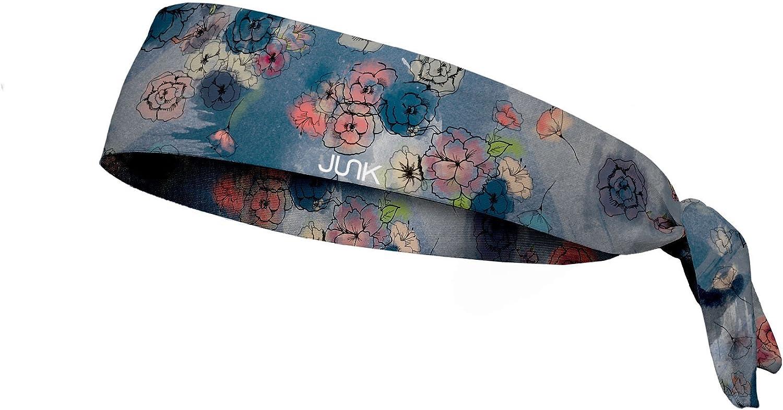 JUNK Brands Ethereal Rose Flex Tie Headband, Grey, One Size