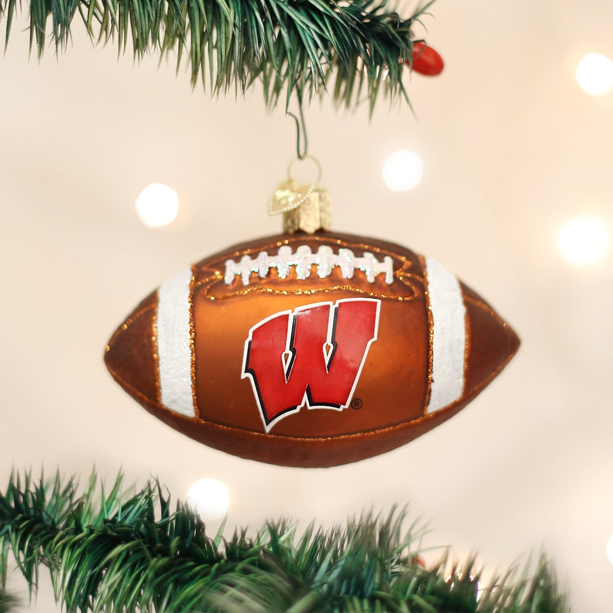 Wisconsin Beanie Glass Blown Ornaments for Christmas Tree Old World Christmas Ornaments