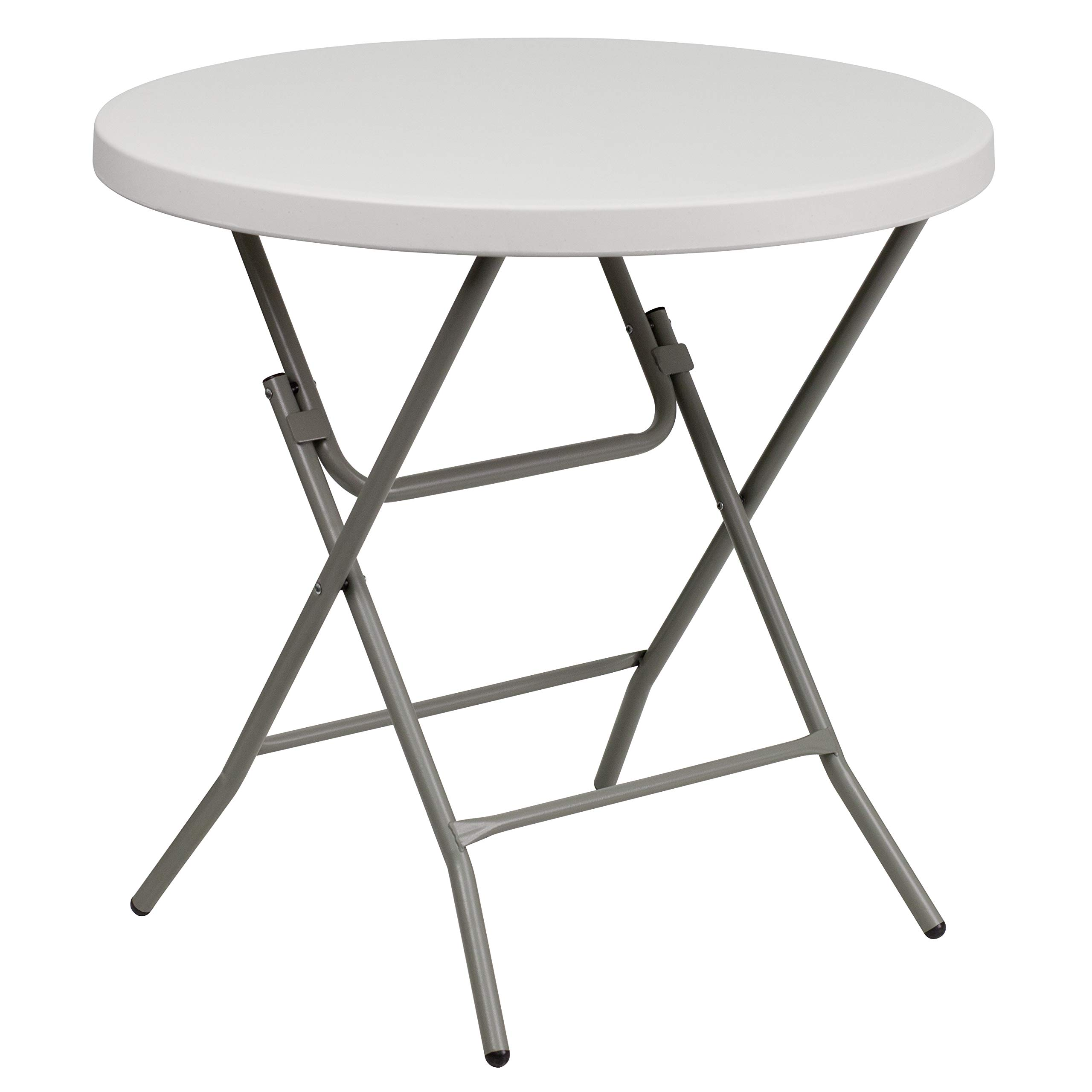 Flash Furniture 3-Foot Round Granite White Plastic Folding Table by Flash Furniture
