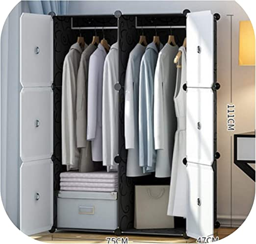 Amazon.com: Modern Plastic Resin Clothes Wardrobes Metal Cloth