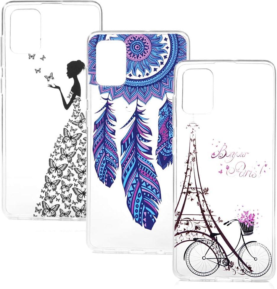 VoguSaNa Kompatible f/ür Handyh/ülle Samsung Galaxy A71 H/ülle Silikon Case Cover Transparent Tasche D/ünn Durchsichtige Schutzh/ülle Handytasche Skin Softcase Schale Bumper TPU Handycover*3 Etui-4