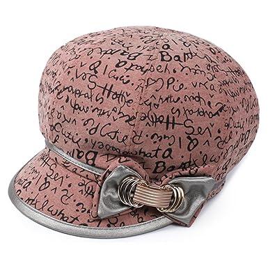 3c4a1404185 Hat Ladies beret Fashion hats Old hat Octagonal hat  autumn sun hat Cap Sun  Hat-E One Size  Amazon.co.uk  Clothing