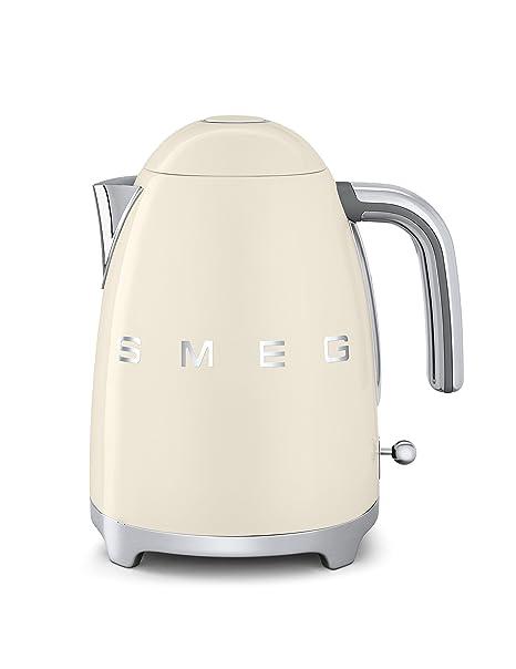 SMEG KLF01 Calentador de Agua electrico, hervidor KLF01CREU, 2400 W, 1.7 litros,