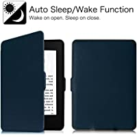 MOCA flip Cover case for Amazon Kindle Paperwhite 6 inch 1 2 3 7th 7 gen Generation 2012 2013 2014 2015 300 PPI Flip Cover Flip Case (Deep Blue)