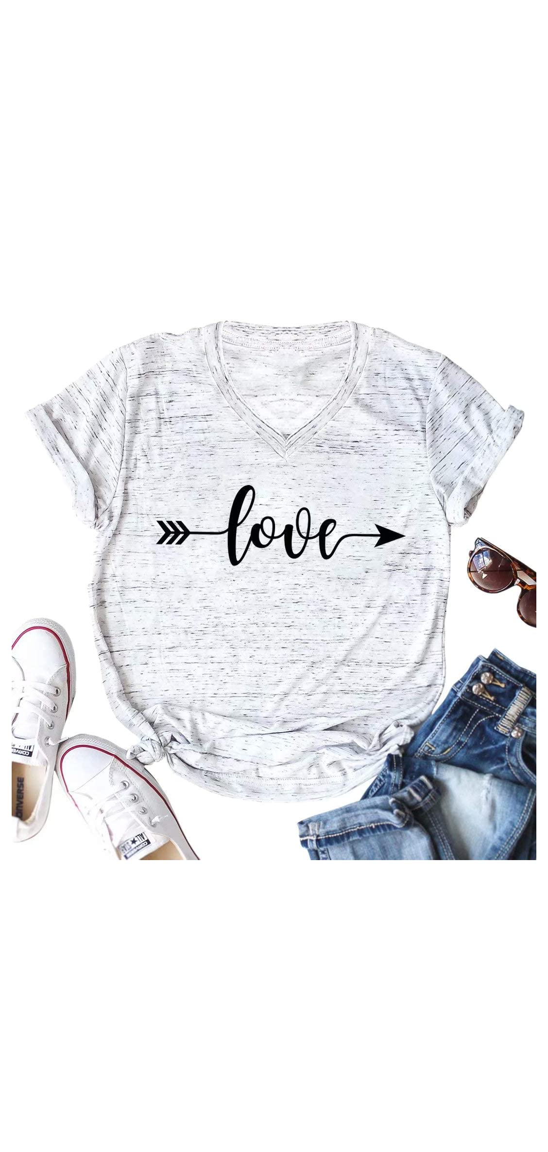 Cute Graphic Tee Shirts For Women Teen Girls Junior Tee