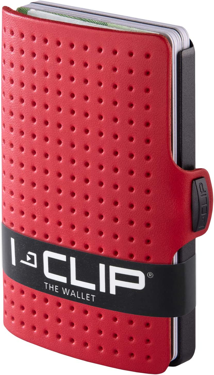 I-CLIP ® Cartera AdvantageR Rojo, Gunmetal-Black (Disponible En 8 Variantes)