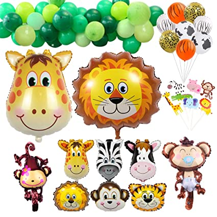 Amazon.com: Globos de decoración para fiestas Safari, 68 ...