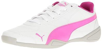 PUMA Kids' Tune Cat 3 Jr Sneaker, Puma White-Knockout Pink, 6