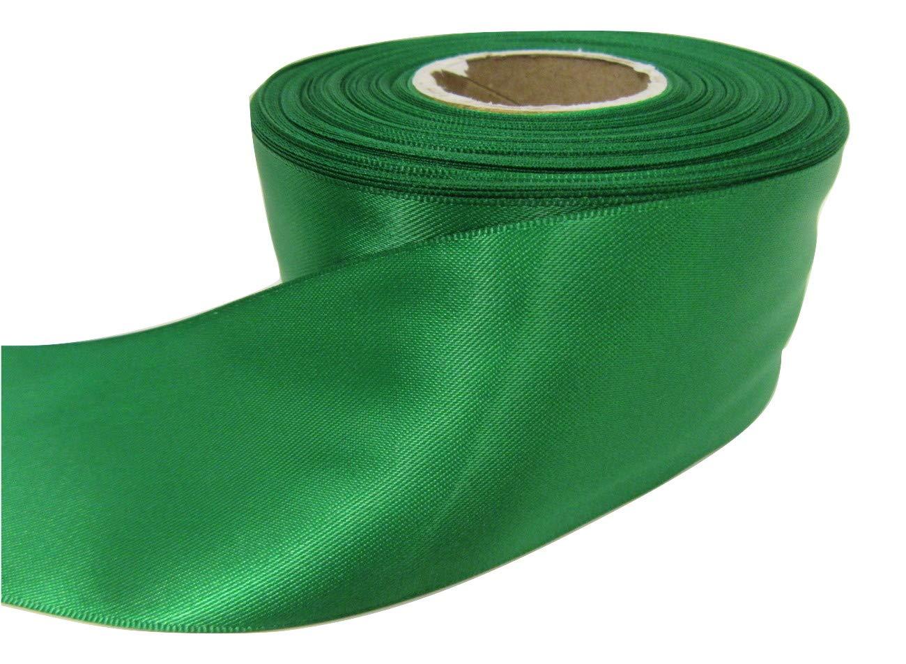 Beautiful Ribbon 1 rotolo di nastro di raso 50 millimetri x 25 metri brillante verde smeraldo a doppia faccia 50mm 50 mm