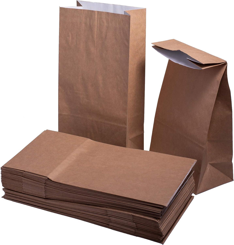 Keephot 26,6 x 12,7 x 7,6 cm White//Brown Bolsas de papel de doble capa con forro a prueba de grasa para alimentos calientes y grasos