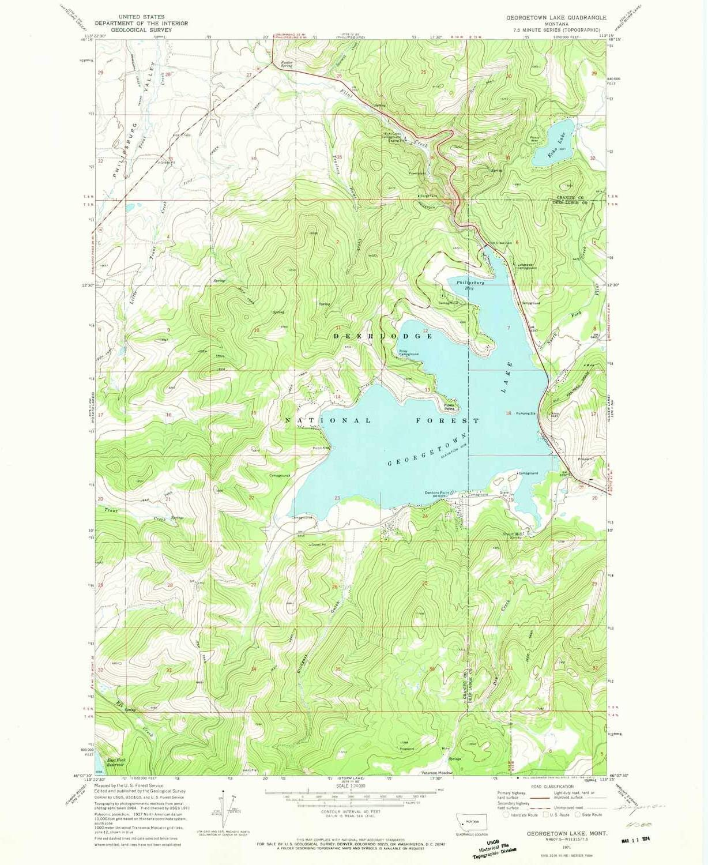 georgetown lake mt map Amazon Com Yellowmaps Georgetown Lake Mt Topo Map 1 24000 Scale georgetown lake mt map