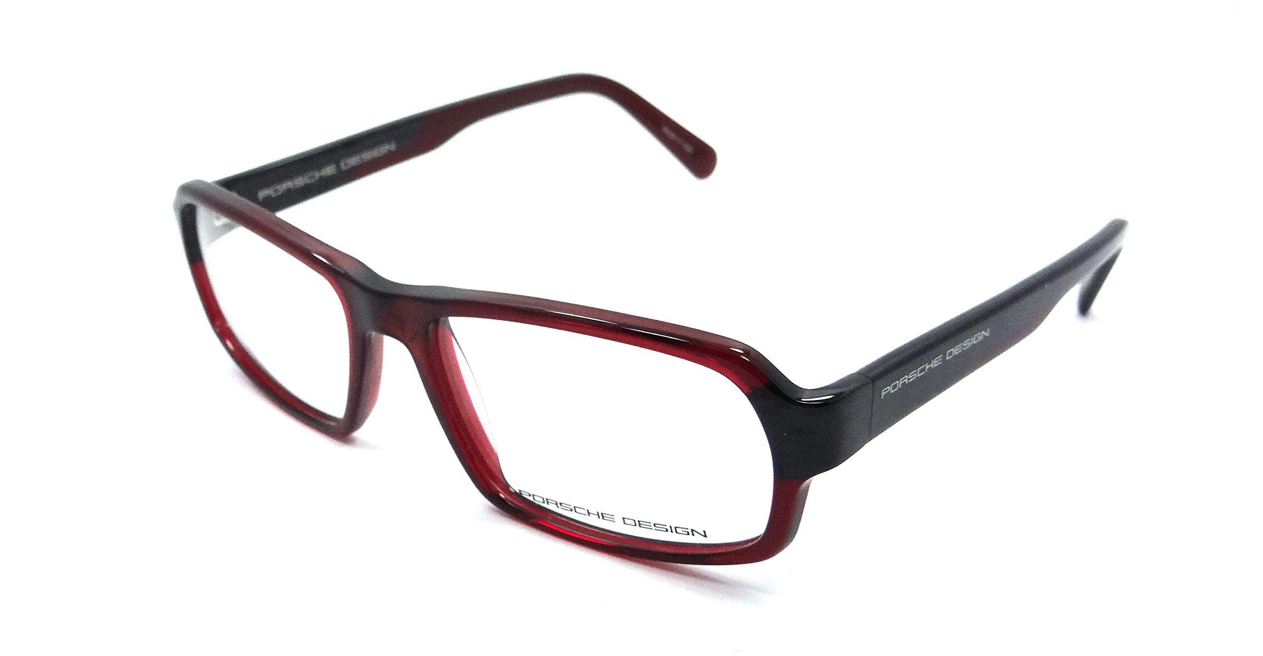 Porsche Design Rx Eyeglasses Frames P8215 D 55x16 Cherry Red Made in Italy