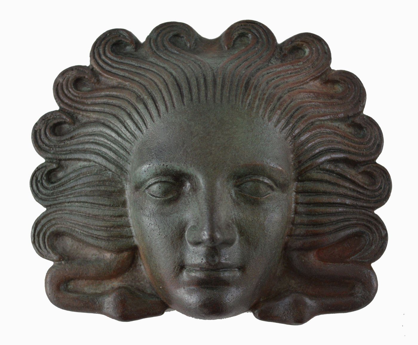 Estia Creations Medusa Miniature Mask with Bronze Color Effect - Ancient Greek Theatre - Gorgon Medousa by Estia Creations