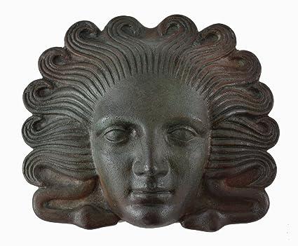 Medusa miniatura máscara con – color efecto de bronce antiguo teatro griego – arpía Medousa