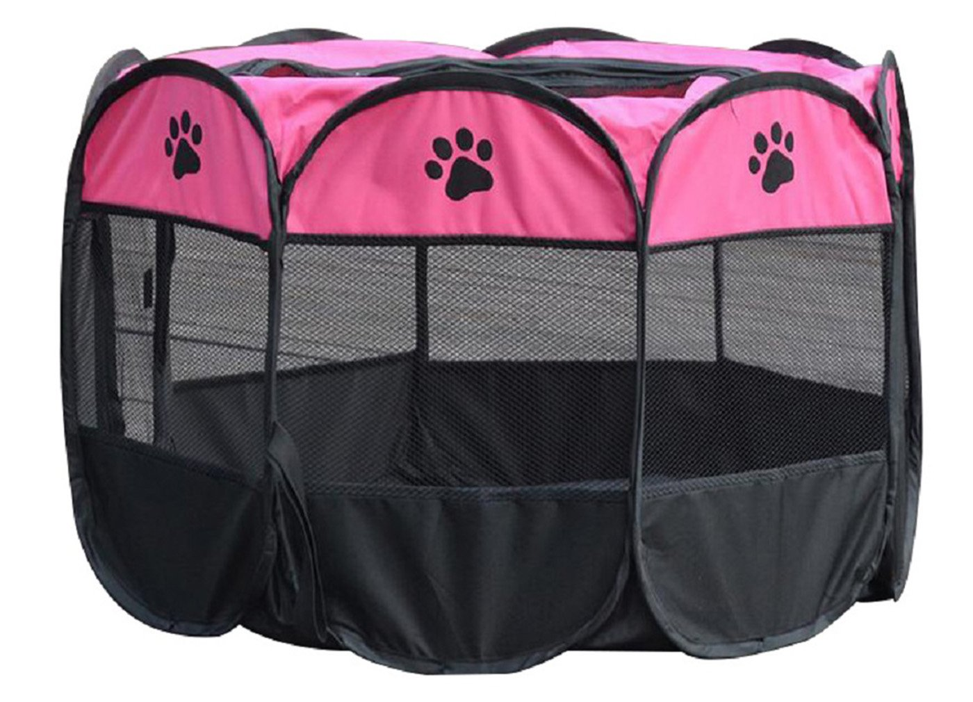 Purple S Purple S Kennel Go Out Portable Large Dog Cage Tent Outdoor Pet Supplies Small Medium Sized Dog Fence Foldable 3 colors 2 Sizes (S, Purple)
