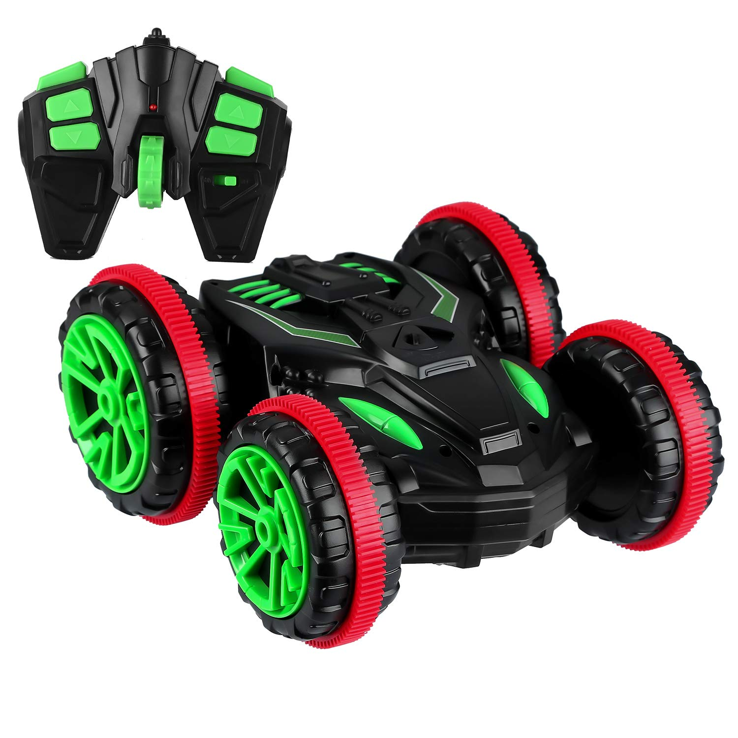 Blexy Remote Control Car Boat RC Stunt Car 4WD 6CH 2.4Ghz Multifunction Amphibious Tank Double Sided Land Water Electric Racing Vehicle 360/° Spins /& Flips