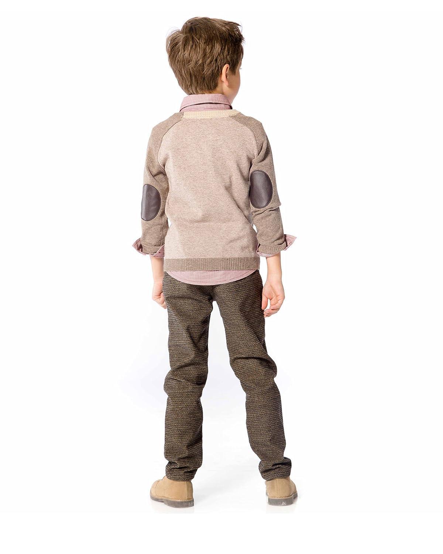 Sizes 18M-12 Deux par Deux Boys Taupe Knit Cardigan Maestro!