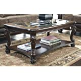 Amazon Com Solid Wood Glass Top Coffee Table W Stools