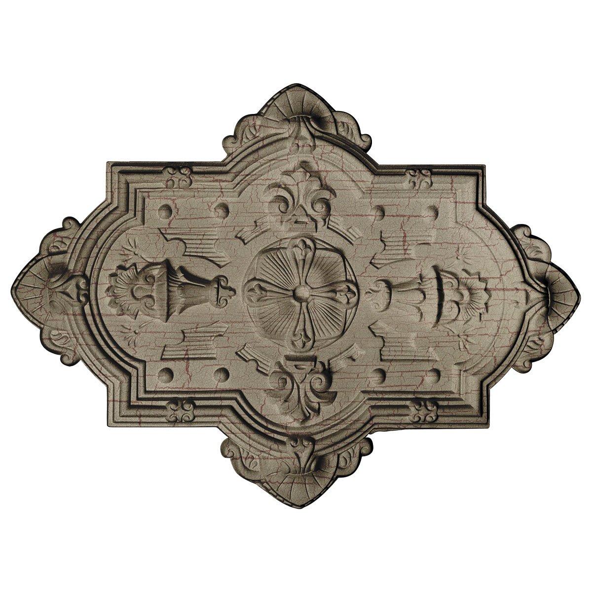 Ekena Millwork CM29X38CAGDC Ceiling Medallion, Gobi Desert Crackle