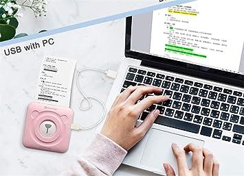 LUCKY CLOVER-A Impresora de Fotos, Bluetooth Portátil Mini ...