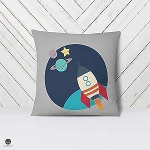 not branded Space Pillow Case Kids Rocket Ship Pillow Kids Space Room Space Throw Pillow Space Themed Nursery Astronaut Decor 5 Mix Match