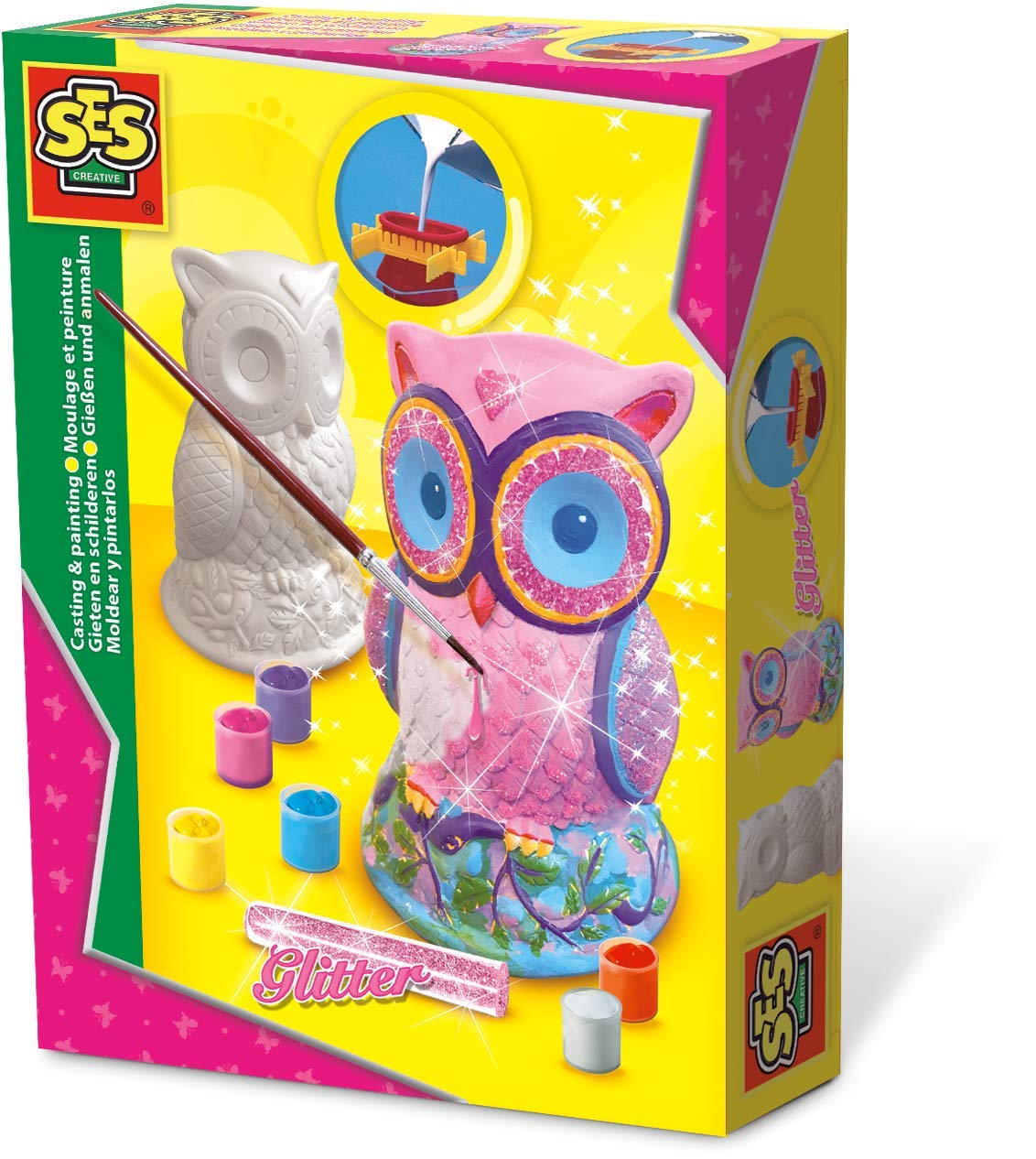 SES 012854 Creative Casting /& Painting Owl Fun to Create Kit