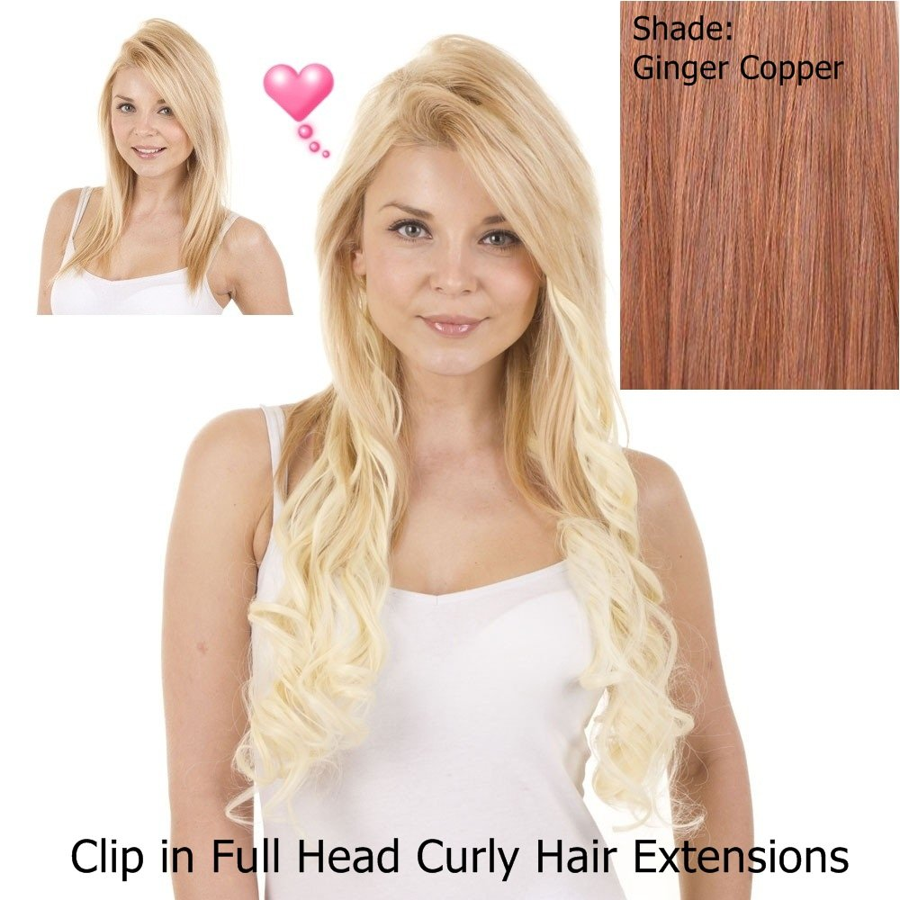 Amazon Curly 18 Clip In Full Head Hair Extensions Pack Of