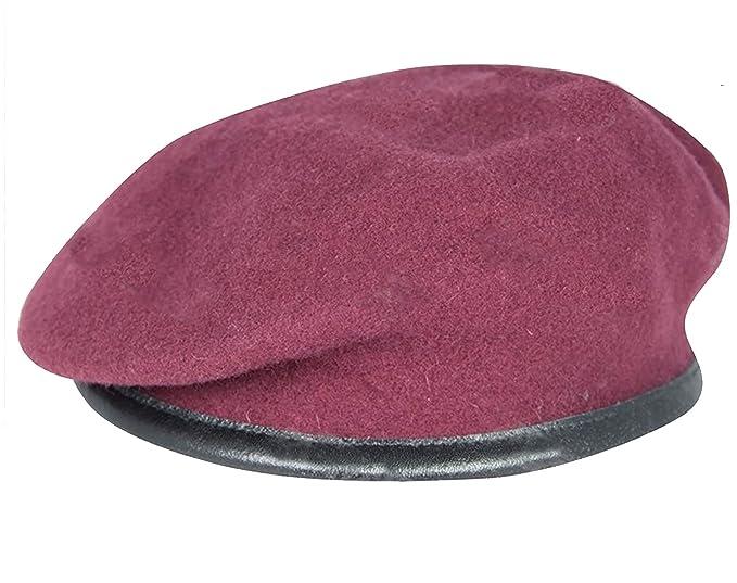 Diseño militar de pareja de boinas de alta calidad - British Made - 100 %  de la unidad de lana colores ... b9b5707b9ca
