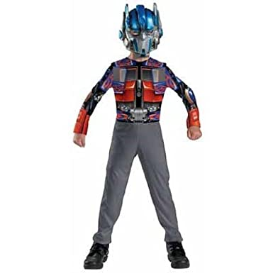 Amazon.com: Optimus Prime Kids Costume - 7-8: Clothing