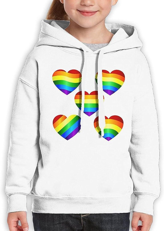Starcleveland Teenager Pullover Hoodie Sweatshirt Five Hearts Teens Hooded Boys Girls