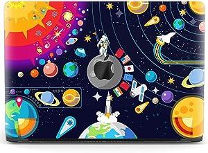 Mertak Hard Case for Apple MacBook Pro 16 Air 13 inch Mac 15 Retina 12 11 2020 2019 2018 2017 Protective Planets Women Cover Cute Cartoon NASA Design Shell Solar System Print Laptop Space Plastic
