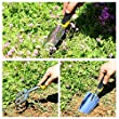 SONGMICS 7 Piece Garden Tool Set Includes Garden Tote and 6 Hand Tools W/ Heavy Duty Cast-aluminum Heads Ergonomic Handles UGGB31L