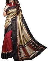 Divyaemporio Bhagalpuri Art Silk Saree (Multicolor)
