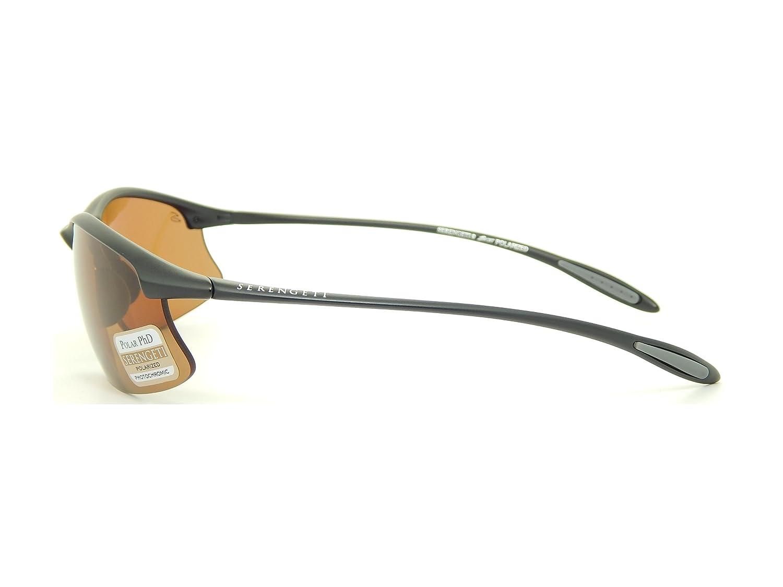 d647345cb22 Amazon.com  New Serengeti Maestrale 7356 Satin Black Polar PhD DR 8 Base  Lens 70mm Sunglasses  Clothing