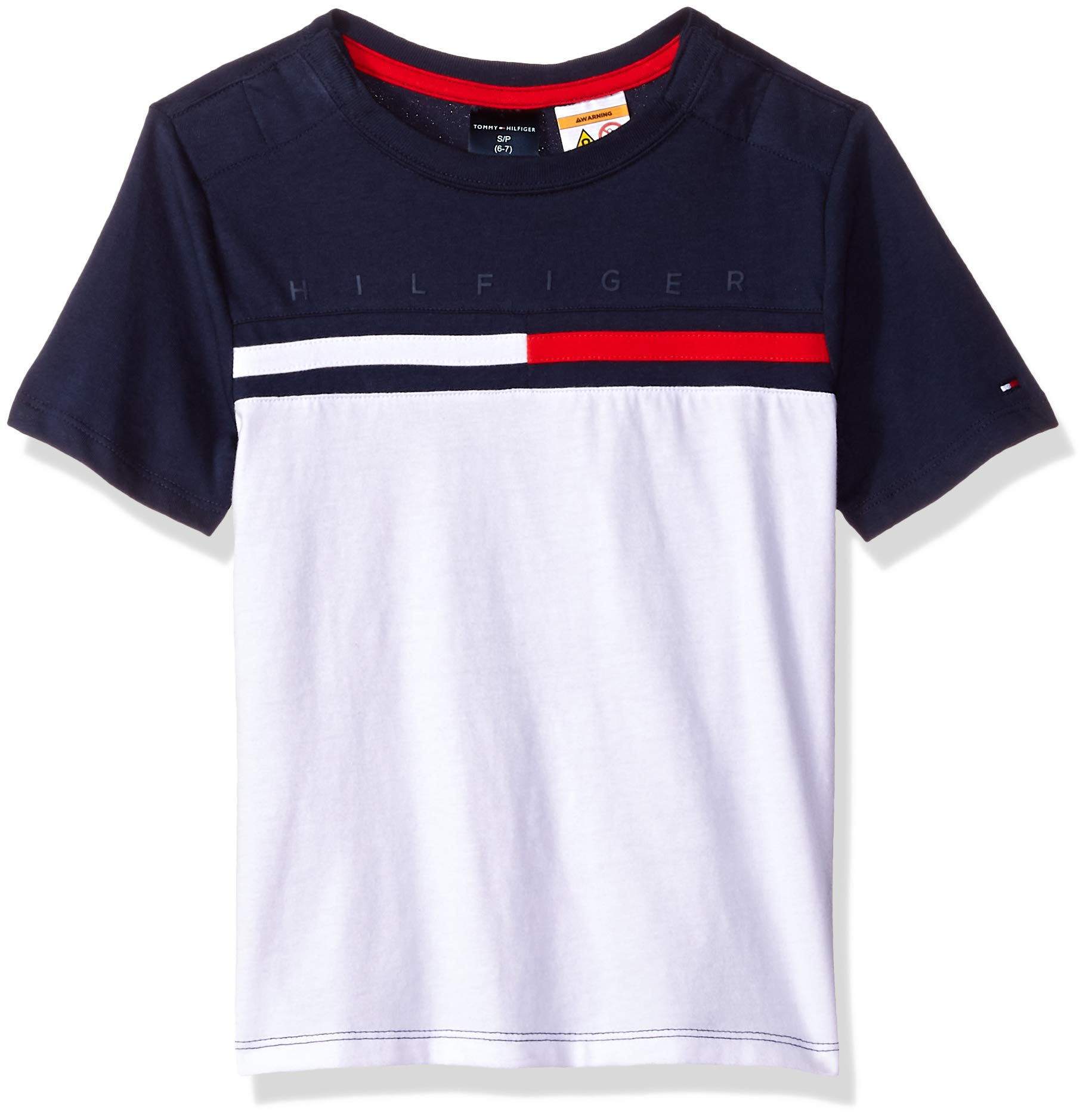 Tommy Hilfiger Boys' Adaptive T Shirt with Velcro Brand Closure at Shoulders