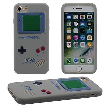 iPhone 7 Carcasa Protectora, Delgado y Ligero Prima Suave Silicoona Plastico Original Clásico Game Boy 3D Forma Serie Funda Case Antigolpes para Apple ...