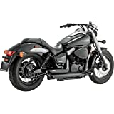 Vance and Hines Shortshots Staggered Black Full System Exhaust for Honda 2009-1 - One Size