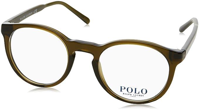 Polo Ralph Lauren 0PH2157, Monturas de Gafas para Hombre, Shiny Crystal Olive, 47