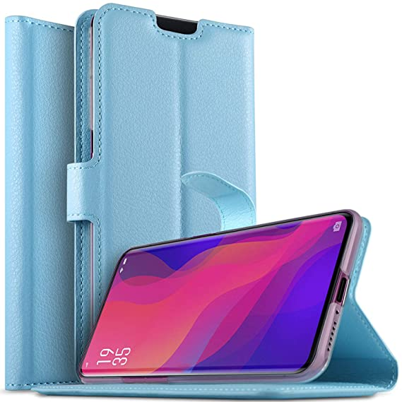 huge selection of bad25 ec0ca Amazon.com: Oppo Find X case, KUGi Premium PU Leather Wallet Case ...